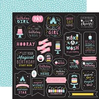 Echo Park - Magical Birthday Girl Collection - 12 x 12 Double Sided Paper - Make A Wish