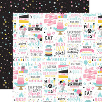 Echo Park - Magical Birthday Girl Collection - 12 x 12 Double Sided Paper - Birthday Magic