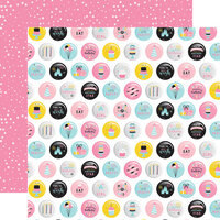 Echo Park - Magical Birthday Girl Collection - 12 x 12 Double Sided Paper - Eat Cake