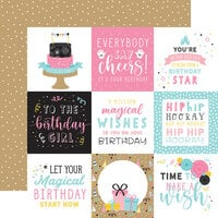 Echo Park - Magical Birthday Girl Collection - 12 x 12 Double Sided Paper - 4 x 4 Journaling Cards