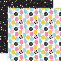 Echo Park - Magical Birthday Girl Collection - 12 x 12 Double Sided Paper - Balloons