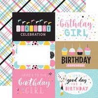 Echo Park - Magical Birthday Girl Collection - 12 x 12 Double Sided Paper - 6 x 4 Journaling Cards