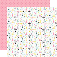 Echo Park - Magical Birthday Girl Collection - 12 x 12 Double Sided Paper - Party Hats