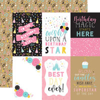 Echo Park - Magical Birthday Girl Collection - 12 x 12 Double Sided Paper - 4 x 6 Journaling Cards
