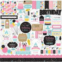 Echo Park - Magical Birthday Girl Collection - 12 x 12 Cardstock Stickers - Elements