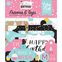 Echo Park - Magical Birthday Girl Collection - Ephemera - Frames and Tags