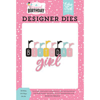 Echo Park - Magical Birthday Girl Collection - Designer Dies - Birthday Girl Flags