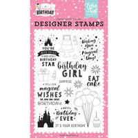 Echo Park - Magical Birthday Girl Collection - Clear Photopolymer Stamps - Birthday Magic