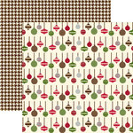 Echo Park - Merry Christmas Collection - 12 x 12 Double Sided Paper - Silver Bells, CLEARANCE