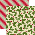 Echo Park - Merry Christmas Collection - 12 x 12 Double Sided Paper - Holly Berry, CLEARANCE