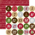 Echo Park - Merry Christmas Collection - 12 x 12 Double Sided Paper - Christmas Countdown, CLEARANCE