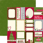 Echo Park - Merry Christmas Collection - 12 x 12 Double Sided Paper - Tis the Season Card, CLEARANCE