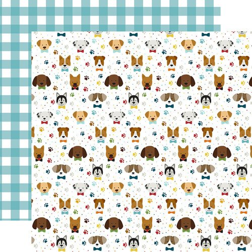 Echo Park - My Dog Collection - 12 x 12 Double Sided Paper - Puppy Pals
