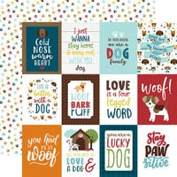 Echo Park - My Dog Collection - 12 x 12 Double Sided Paper - 3 x 4 Journaling Cards