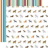 Echo Park - My Dog Collection - 12 x 12 Double Sided Paper - Puppy Party