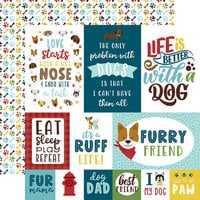 Echo Park - My Dog Collection - 12 x 12 Double Sided Paper - 4 x 6 Journaling Cards
