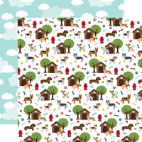 Echo Park - My Dog Collection - 12 x 12 Double Sided Paper - Dog Days