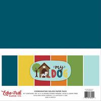 Echo Park - My Dog Collection - 12 x 12 Paper Pack - Solids