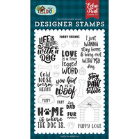 Echo Park - My Dog Collection - Clear Photopolymer Stamps - Furry Friends