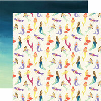 Echo Park - Mermaid Dreams Collection - 12 x 12 Double Sided Paper - Mystic Mermaids