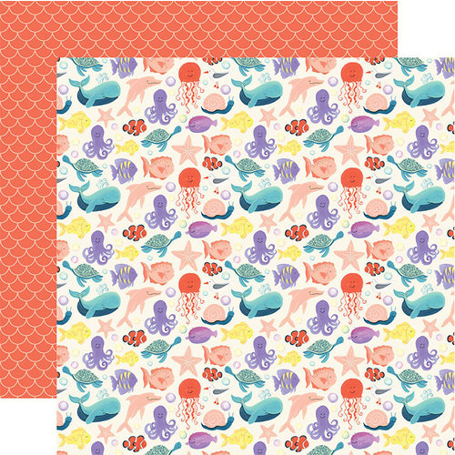 Echo Park - Mermaid Dreams Collection - 12 x 12 Double Sided Paper - Make Waves