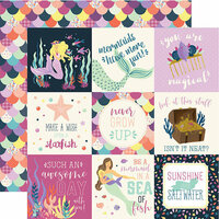 Echo Park - Mermaid Dreams Collection - 12 x 12 Double Sided Paper - 4 x 4 Journaling Cards