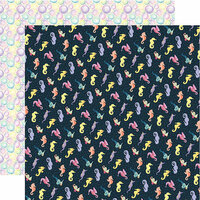 Echo Park - Mermaid Dreams Collection - 12 x 12 Double Sided Paper - Seahorses