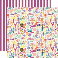 Echo Park - Mermaid Dreams Collection - 12 x 12 Double Sided Paper - Mermaid Tales