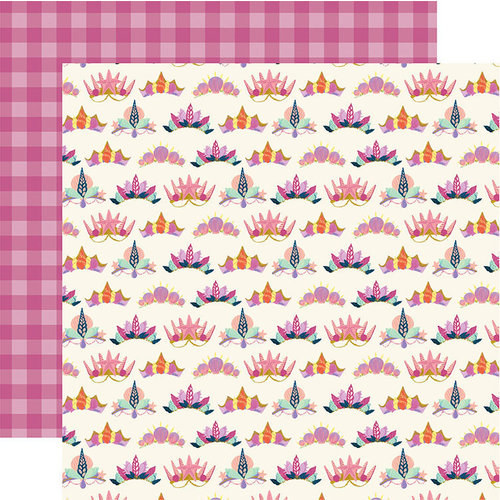 Echo Park - Mermaid Dreams Collection - 12 x 12 Double Sided Paper - Shell Crowns