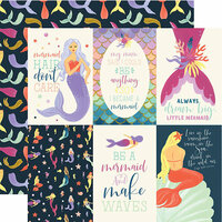 Echo Park - Mermaid Dreams Collection - 12 x 12 Double Sided Paper - 4 x 6 Journaling Cards