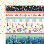 Echo Park - Mermaid Dreams Collection - 12 x 12 Double Sided Paper - Border Strips