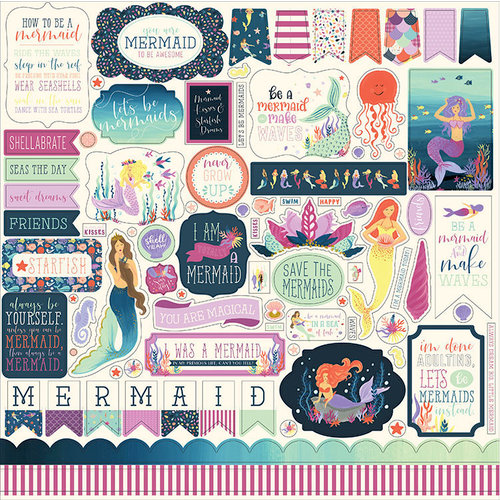 Echo Park - Mermaid Dreams Collection - 12 x 12 Cardstock Stickers - Elements