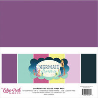 Echo Park - Mermaid Dreams Collection - 12 x 12 Paper Pack - Solids