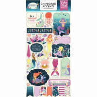 Echo Park - Mermaid Dreams Collection - Chipboard Stickers - Accents