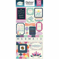 Echo Park - Mermaid Dreams Collection - Chipboard Stickers - Phrases