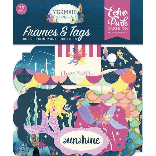 Echo Park - Mermaid Dreams Collection - Ephemera - Frames and Tags