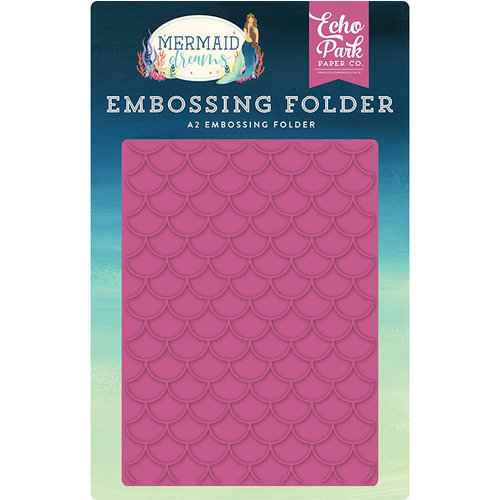 Echo Park - Mermaid Dreams Collection - Embossing Folder - Mermaid Scales