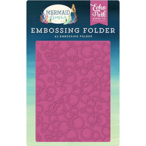 Echo Park - Mermaid Dreams Collection - Embossing Folder - Bubbles