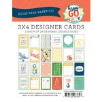 Echo Park - Happy-Go-Lucky Collection - 3 x 4 Pocket Page Cards - Memos