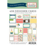 Echo Park - Celebration Collection - 4 x 6 Pocket Page Cards - Memos