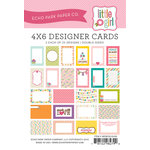 Echo Park - Little Girl Collection - 4 x 6 Pocket Page Cards - Memos