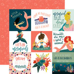 Echo Park - Mermaid Tales Collection - 12 x 12 Double Sided Paper - 4 x 4 Journaling Cards