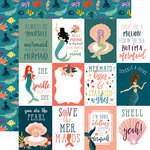 Echo Park - Mermaid Tales Collection - 12 x 12 Double Sided Paper - 3 x 4 Journaling Cards