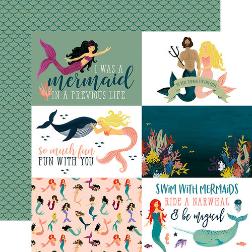 Echo Park - Mermaid Tales Collection - 12 x 12 Double Sided Paper - 4 x 6 Journaling Cards