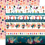 Echo Park - Mermaid Tales Collection - 12 x 12 Double Sided Paper - Border Strips