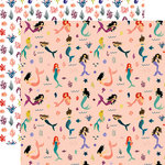Echo Park - Mermaid Tales Collection - 12 x 12 Double Sided Paper - Mermaid Paradise
