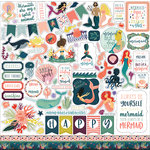 Echo Park - Mermaid Tales Collection - 12 x 12 Cardstock Stickers - Elements