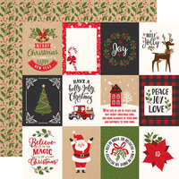 Echo Park - My Favorite Christmas Collection - 12 x 12 Double Sided Paper - 3 x 4 Journaling Cards