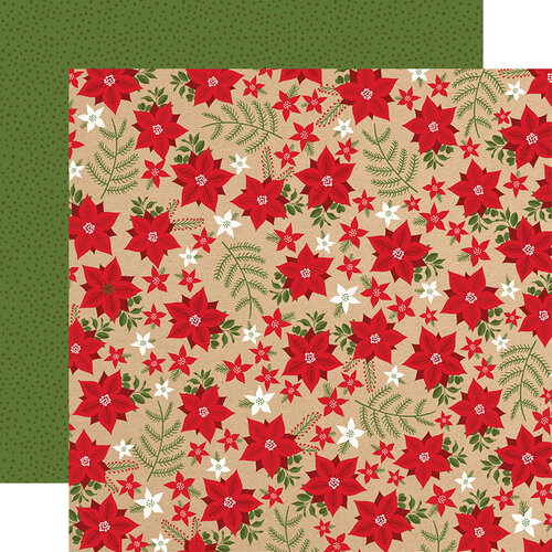 Echo Park - My Favorite Christmas Collection - 12 x 12 Double Sided Paper - Holiday Floral