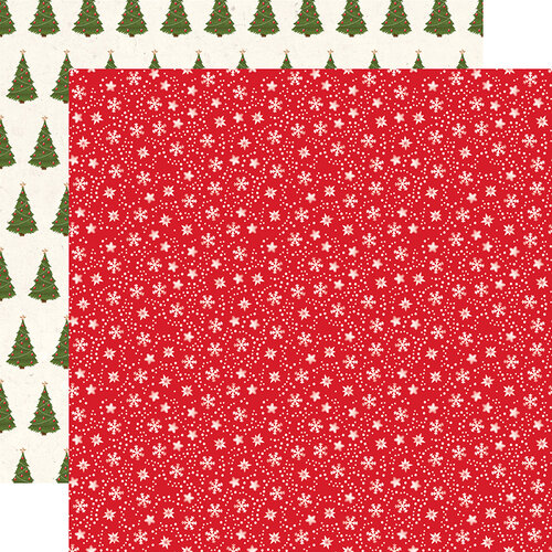 Echo Park - My Favorite Christmas Collection - 12 x 12 Double Sided Paper - Snow Flurries